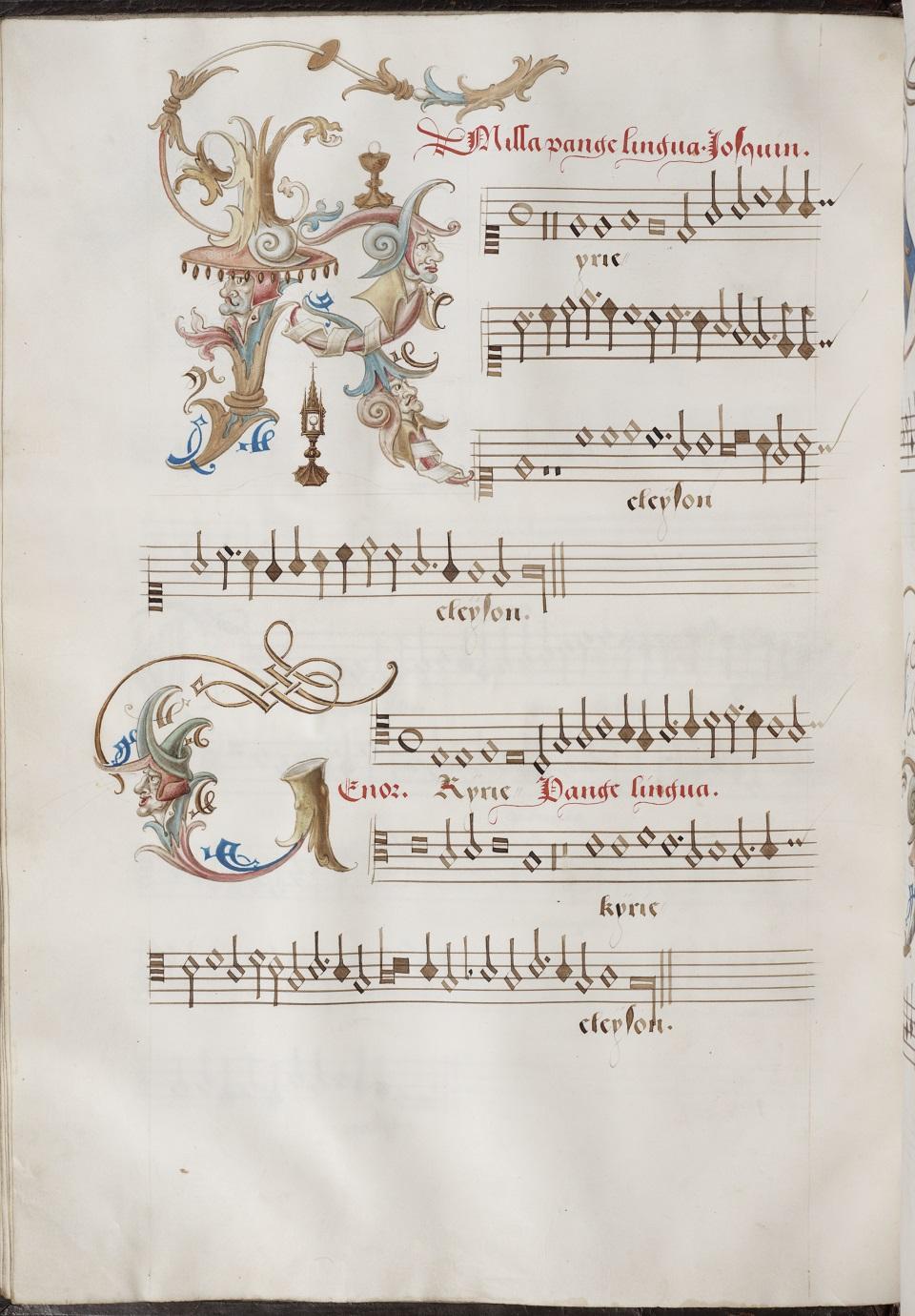 Josquin des Prez occo codex - image on website Willem Elders