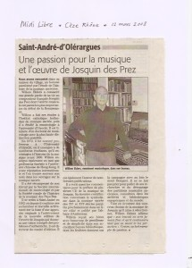 article Midi Libre 2008