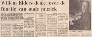 Haagsche Courant 19-10-1972 Willem Elders