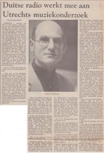 Utrechts Nieuwsblad 04-07-1984 Willem Elders