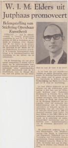 Utrechts Nieuwsblad 04-10-1968 Willem Elders