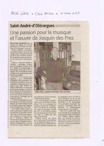article Midi Libre 2008
