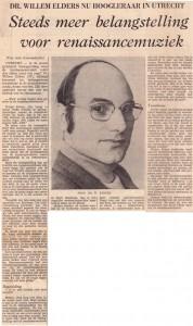 Utrechts Nieuwsblad 23-02-1972 Willem Elders